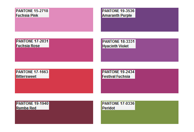 Pantone Color Palette Predictions 2012 Nidhi Saxena 39 S