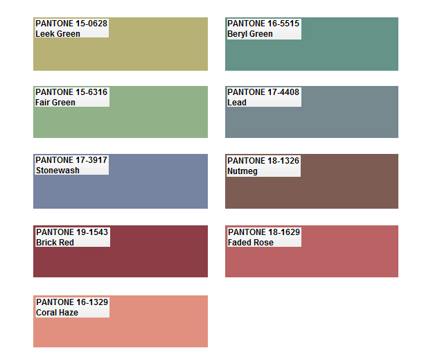 Color Trends What S New What S Next: Pantone Color Palette Predictions- 2012