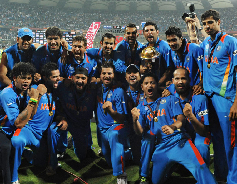 world cup cricket 2011 winner team. The Winning Team India - ICC