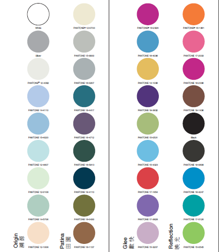 Color Palette Spring/Summer 2012- Courtesy: Interstoff Asia Essential