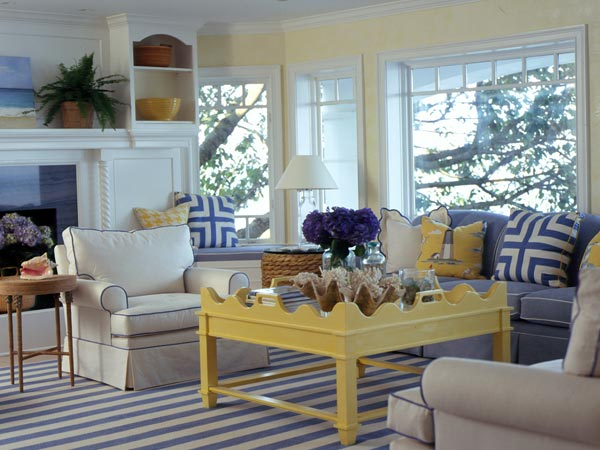 Home Dcor in Blue and Yellow Nidhi Saxenas blog about Patterns