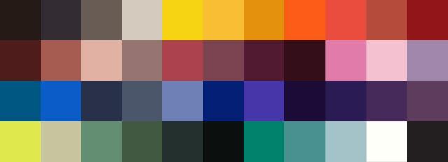 FW 13 Color Palette