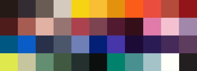 FW 13 Color Palette