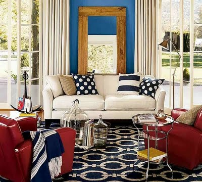 red, white & blue decor | nidhi saxena's blog about patterns