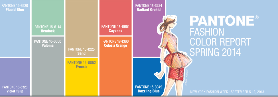 Pantone Fashion Color Report Spring 2014 for Men's Wear and Women ...