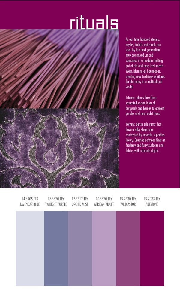 Autumn/Winter 2014/2015 Color and Textile Trends by Spin Expo | Nidhi ...