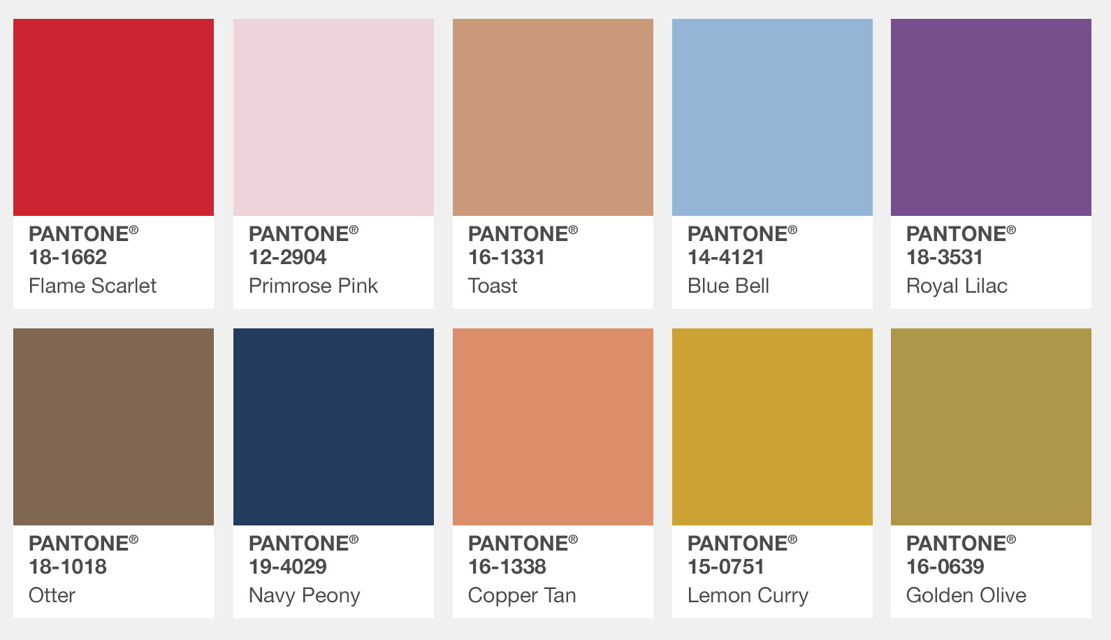pantone fashion color report for london autumn winter. Black Bedroom Furniture Sets. Home Design Ideas